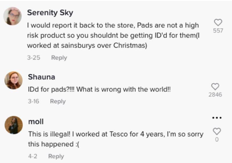 TikTok comments: