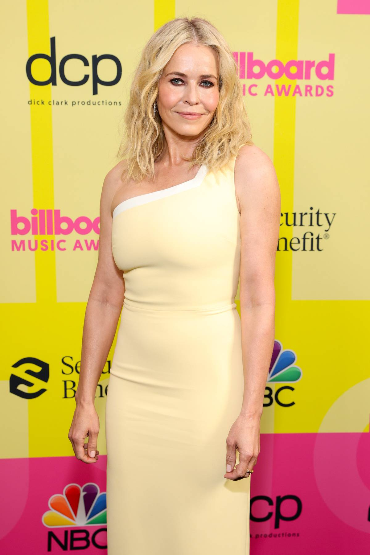 LOS ANGELES, CALIFORNIA - MAY 23: Chelsea Handler poses backstage for the 2021 Billboard Music Awards, broadcast on May 23, 2021 at Microsoft Theater in Los Angeles, California