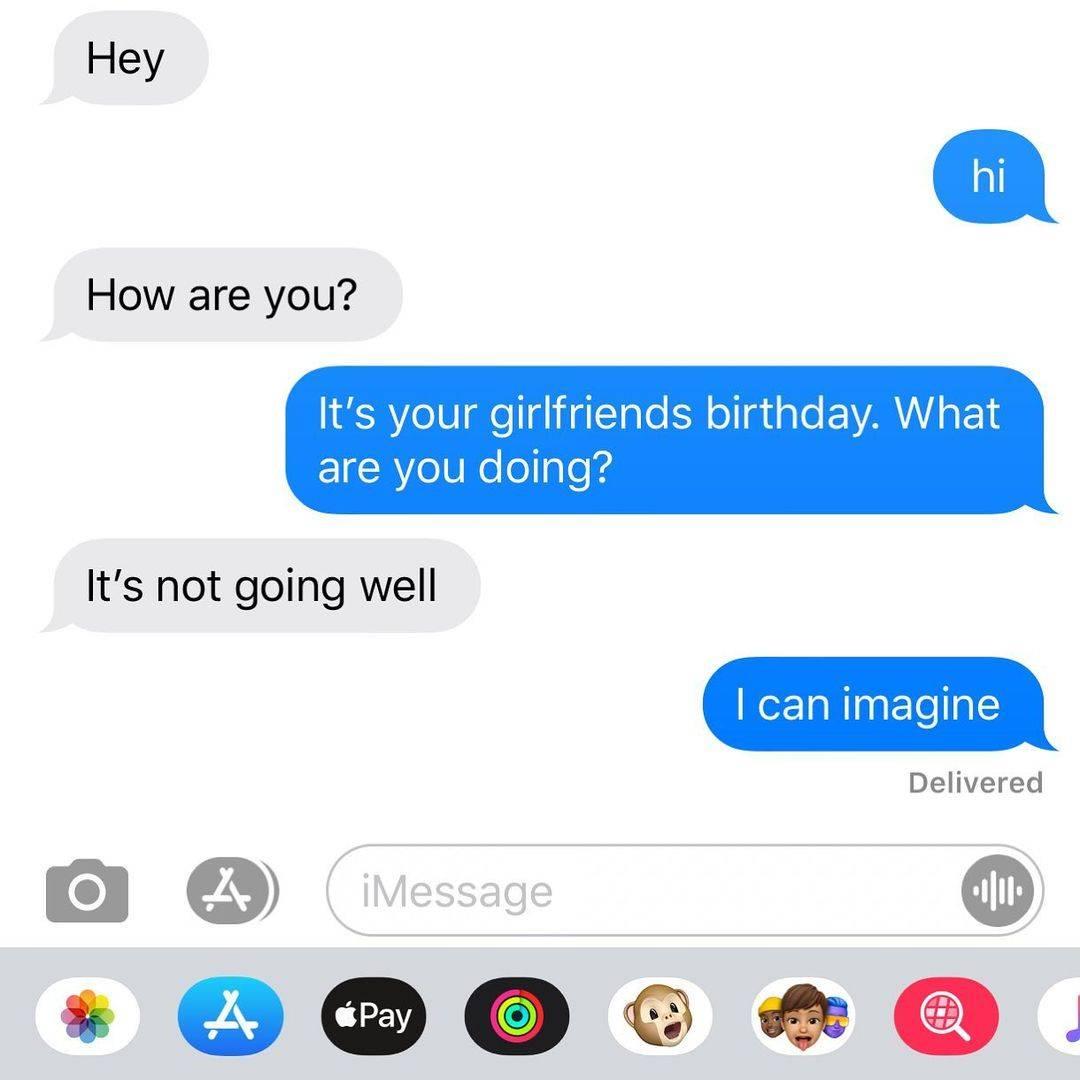 Text message screenshot:
