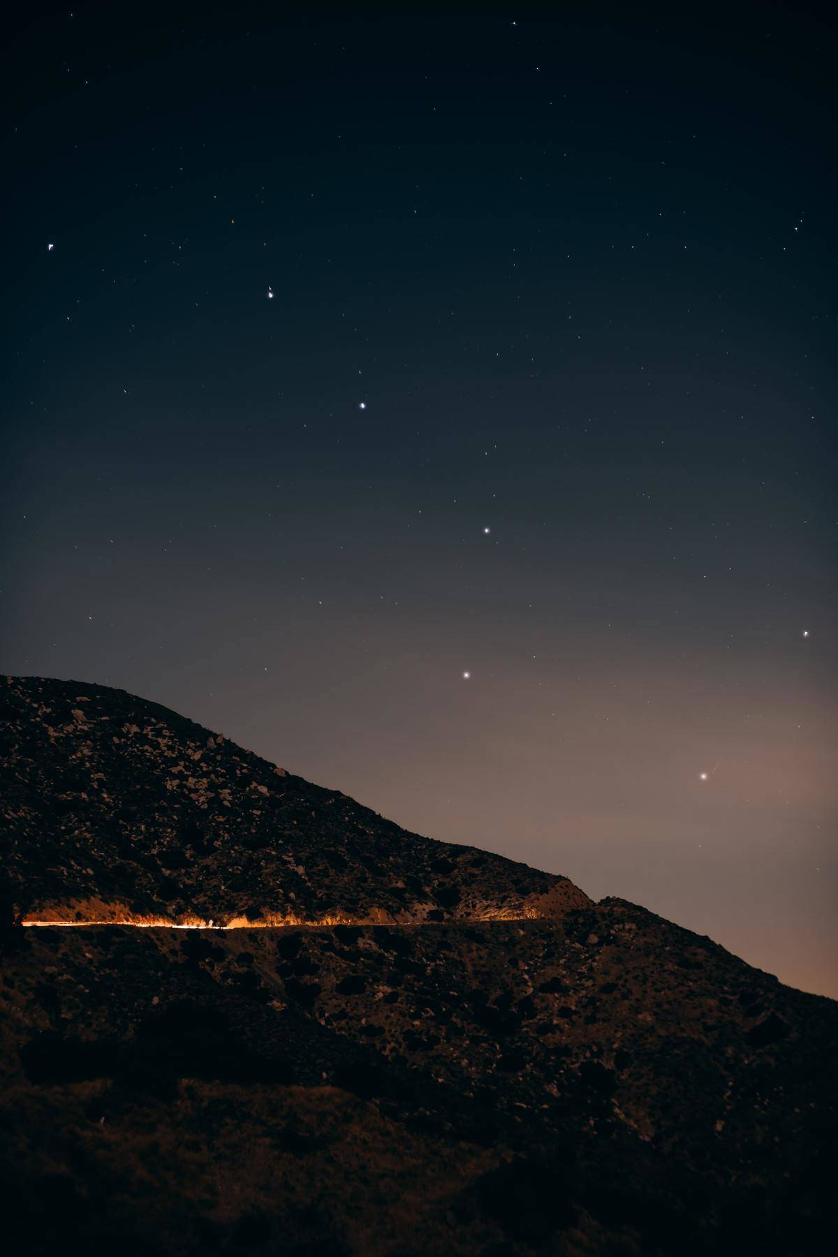 A mountain and the Little Dipper