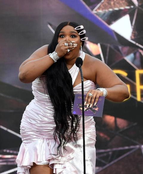 Lizzo speaks onstage during the 63rd Annual GRAMMY Awards at Los Angeles Convention Center on March 14, 2021 in Los Angeles, California.