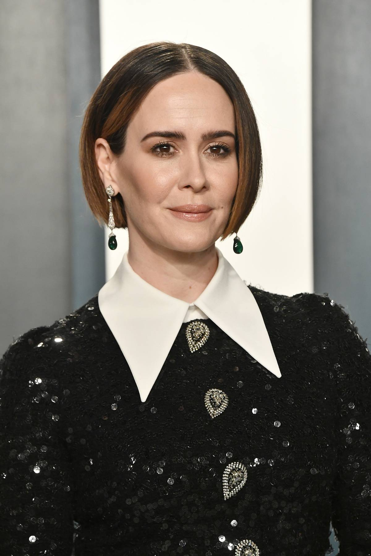 BEVERLY HILLS, CALIFORNIA - FEBRUARY 09: Sarah Paulson attends the 2020 Vanity Fair Oscar Party hosted by Radhika Jones at Wallis Annenberg Center for the Performing Arts on February 09, 2020 in Beverly Hills, California