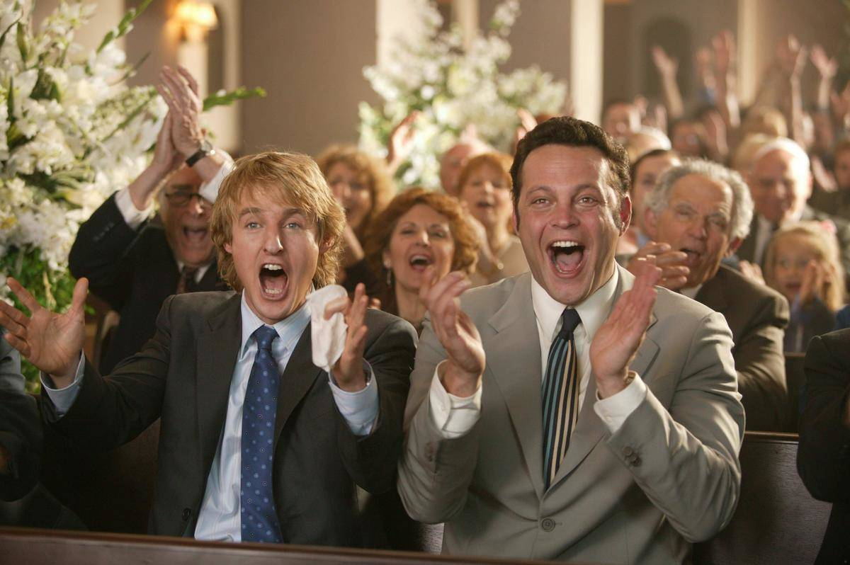 Still from Wedding Crashers of Owen Wilson and Vince Vaughn