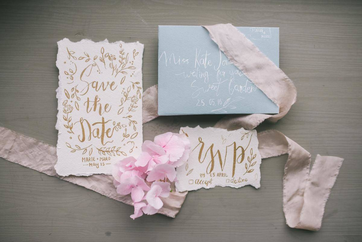 Wedding invite, save the date, and RSVP card