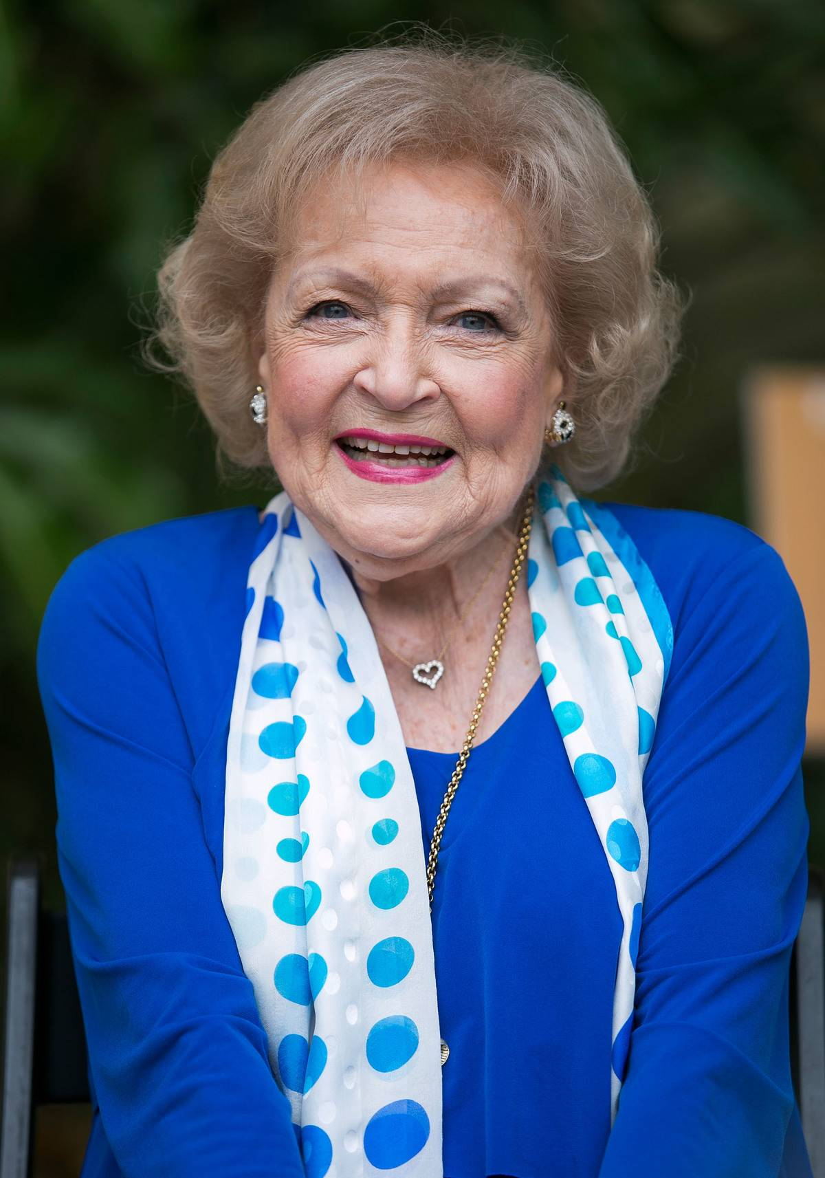 LOS ANGELES, CA - JUNE 11: Actress Betty White attends the media preview for Greater Los Angeles Zoo Association's Beastly Ball fundraiser at Los Angeles Zoo on June 11, 2015 in Los Angeles, California.
