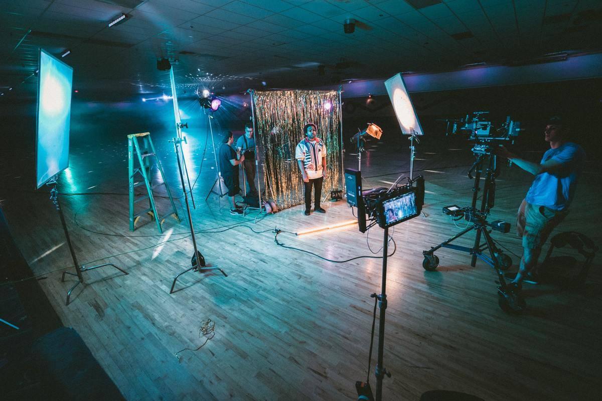 movie production set