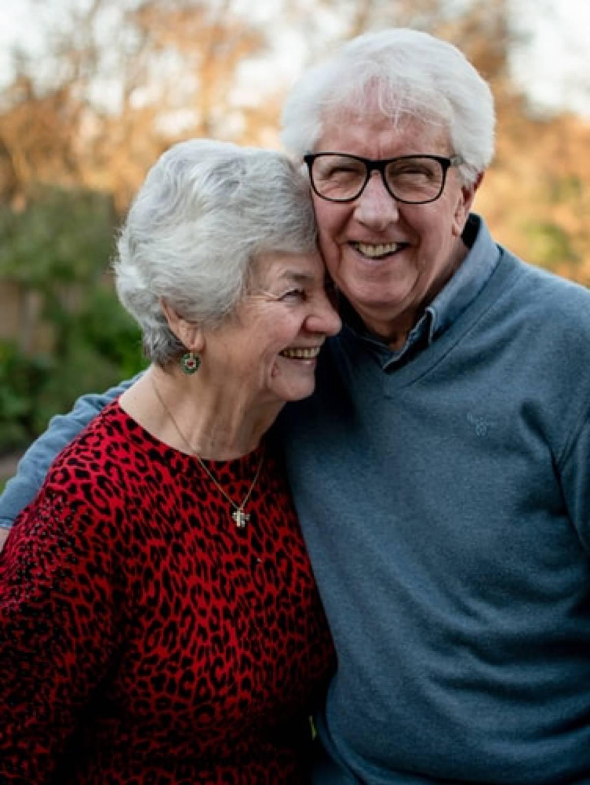 older couple smiling together