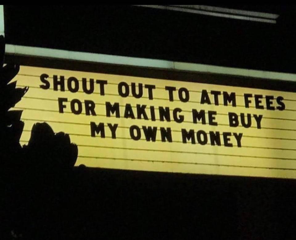 Billboard that says