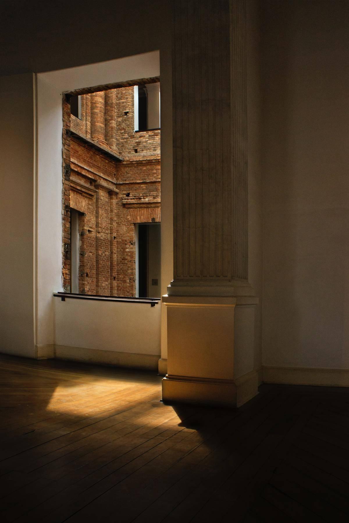 Empty apartment in low lighting