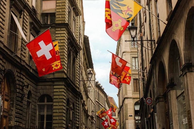 Buildings in Swiss street