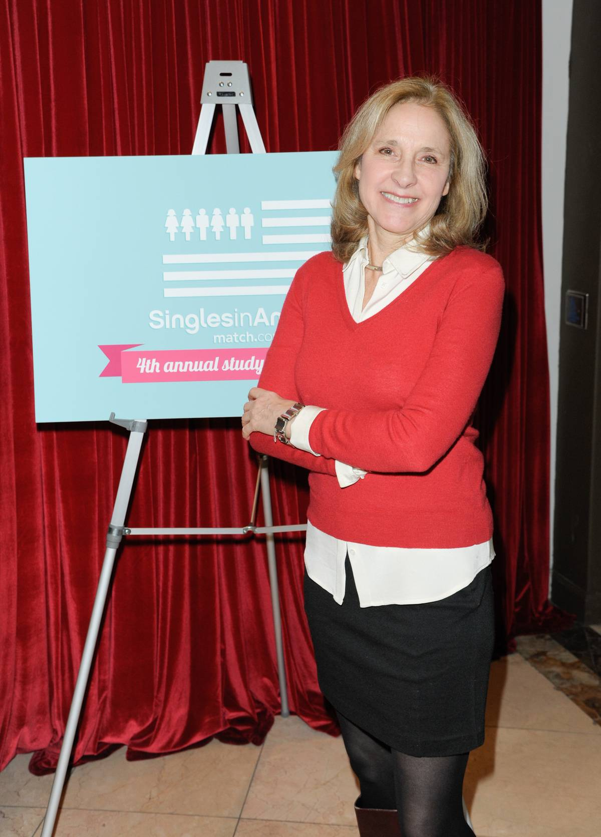 Dr. Helen Fisher attends the Match.com Dating Confessions Panel Hosted By Patti Stanger on February 8, 2014 in New York City
