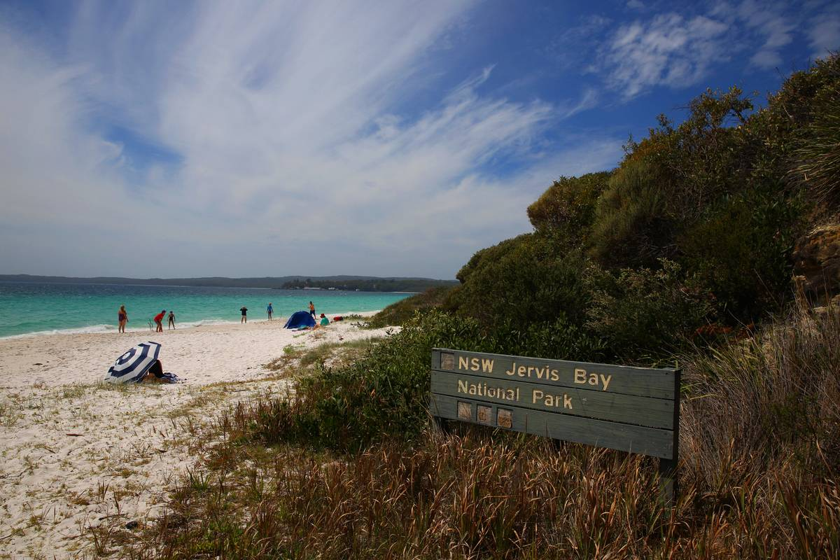 Jervis Bay, in New South Wales, Australia