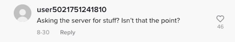 TikTok comment: