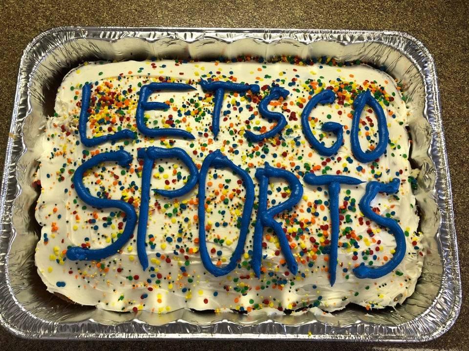 Cake that says