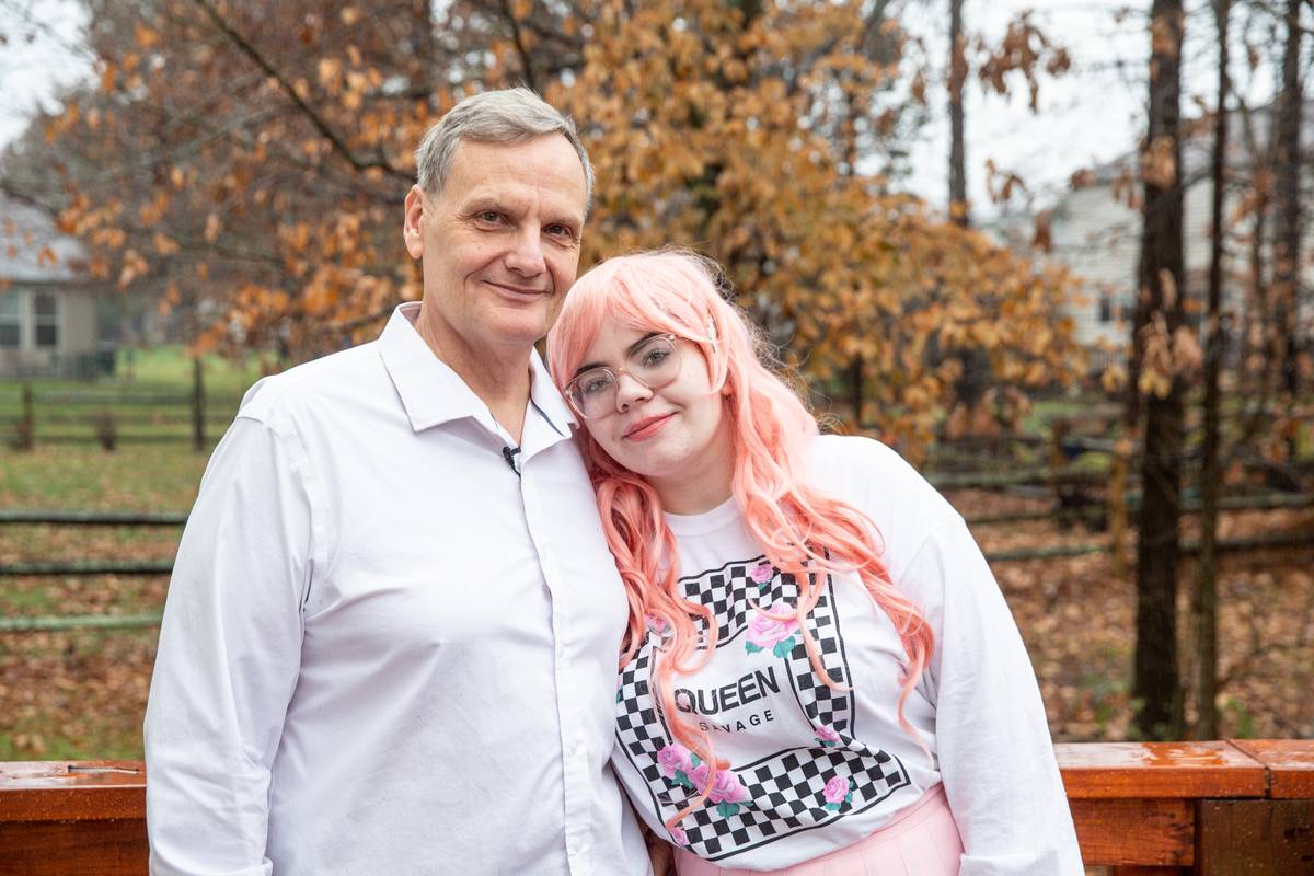 CINCINNATI, OHIO, UNITED STATES - NOVEMBER 23, 2019 - Couple Grant Numrich and Sabrina Barnett, 39 year age gap. Sabrina, age 21, is studying psychology with a minor in art therapy at college; 60-year-old Grant is semi-retired. The unlikely pair met through a dating website that pairs sugar daddies with sugar babies but both claim that what began as a strictly financial situation has turned into something more romantic - although that doesn't stop people from assuming Sabrina is only in it for the money.
