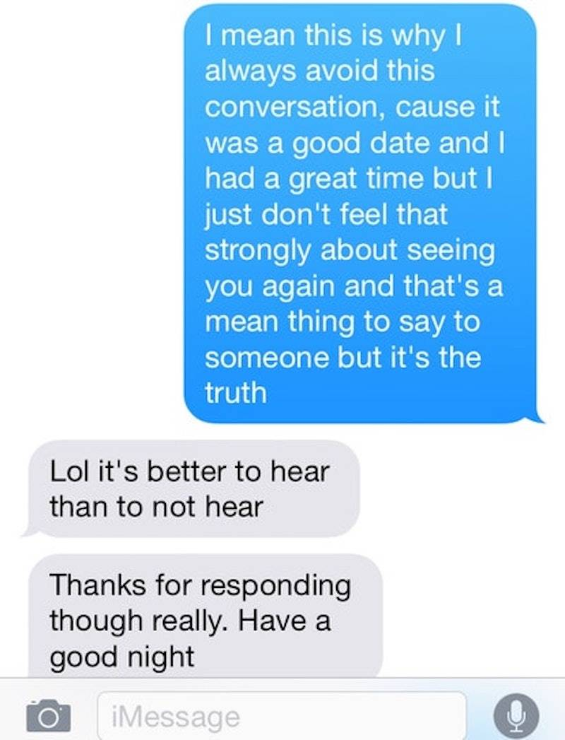 Text message exchange