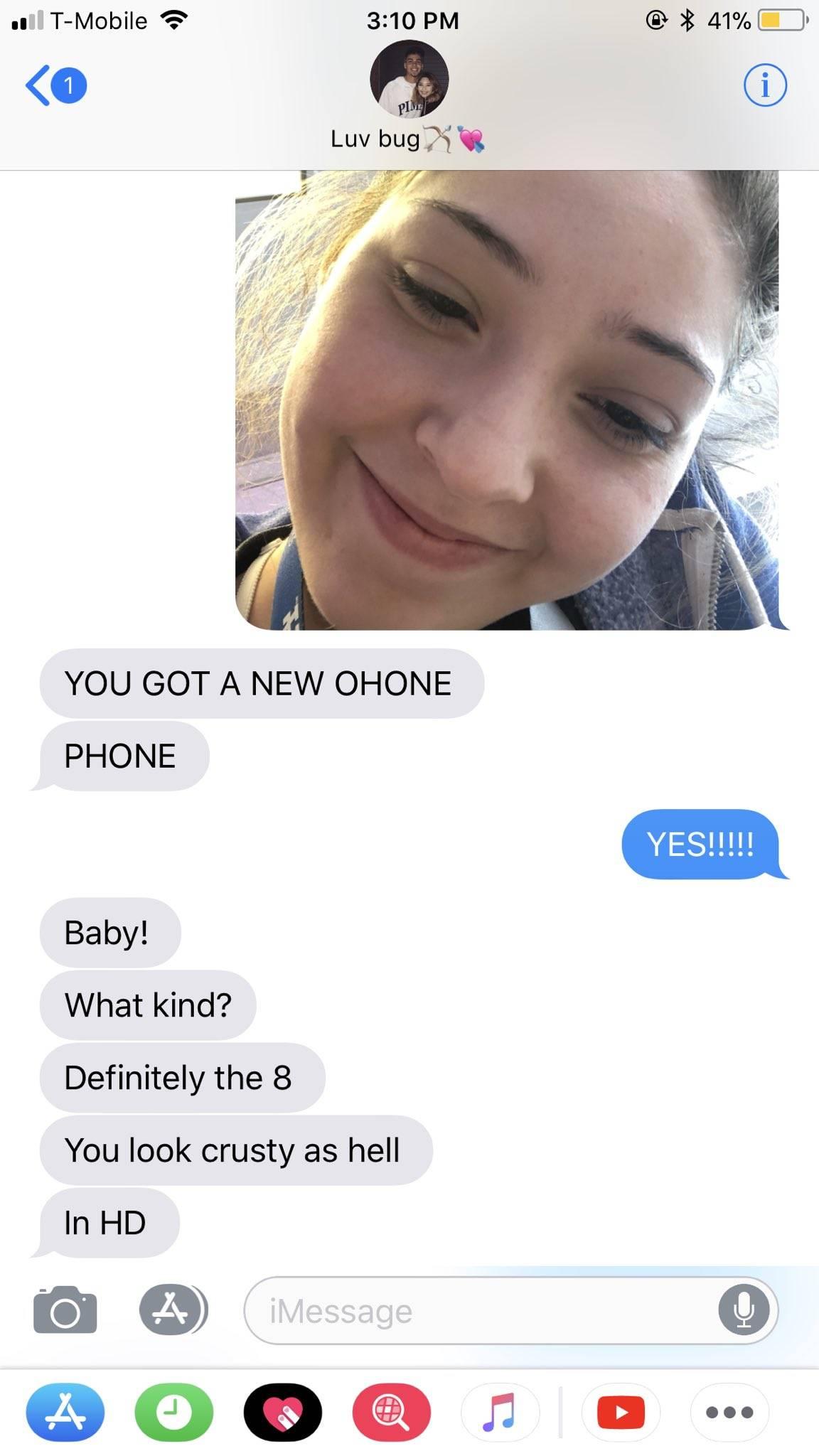 New phone selfie on iPhone