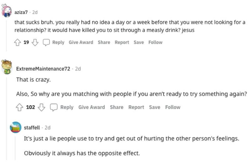 Reddit comments thread