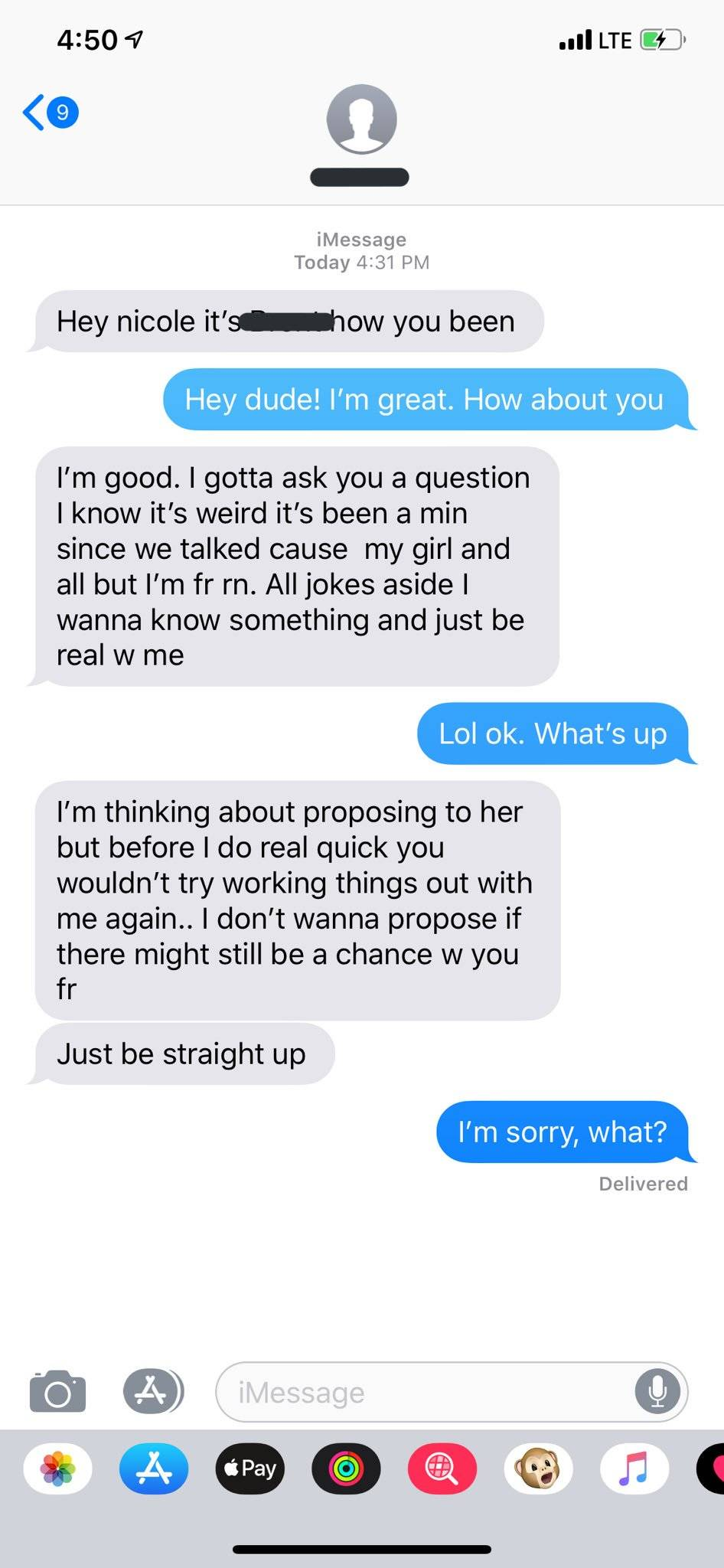 Man reaching out to his ex before proposing to current partner