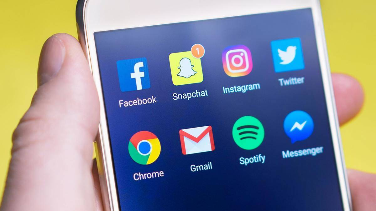 Snapchat notification on phone screen